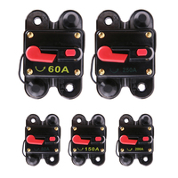 Optional 60A 80A 150A 200A 250A Car Audio Inline Circuit Breaker Fuses For 12V Protection All