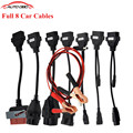 Adapter Cables For Delphi TCS CDP Pro OBD2 OBDII Cars Diagnostic Interface Tool Full set 8 Car Cables For CDP Cable