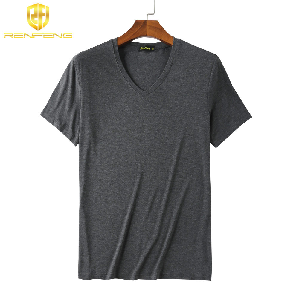 Man\`s Clothes breathable Bamboo Fiber Short Sleeve Tank Night Shirts Undershirt Underwear Mens V-neck Under shirt Man 4 colors (10)