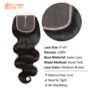 Image 5 - Brazilian Body Wave 3 Bundles With Closure P Human Hair Bundles With Closure 4X4 Lace Closure Remy Hair Add $10 Make Into Wigs