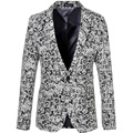 Hombres impreso Blazers 2016 moda Floral Slim Fit de manga larga chaqueta de primavera otoño Blazers florales casuales talla M-6XL 159