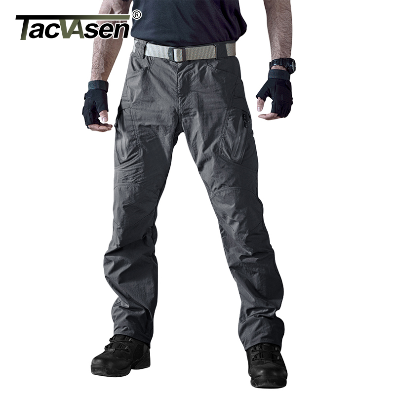 TACVASEN Men Waterproof Tactical Pants Men Summer Cargo Pants Quick Drying Military Pants Thin Combat Trousers