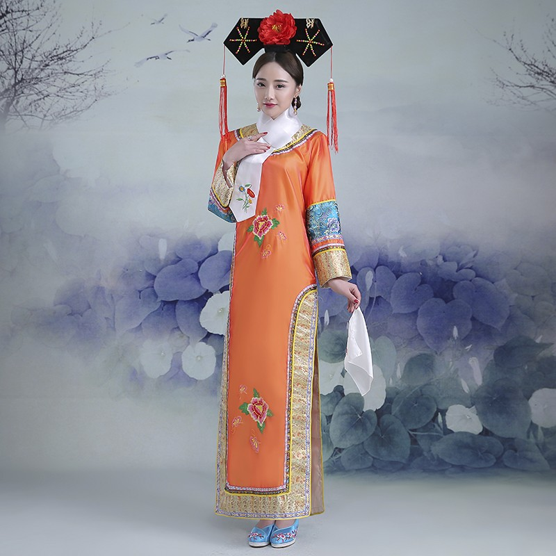 Broderie fille Qing dynastie princesse Costume femmes Hanfu ancienne robe de cour pour cosplay scène performance