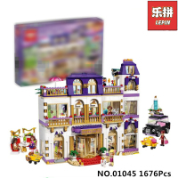 1676Pcs Lepin 01045 Girls Series The Heartlake Grand Hotel Model Set Building Blocks Bricks Eucational Toys