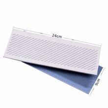 24cm x 9cm Hair Drawing Mat Pu Skin Pad Holder for Bulk Brazilian Indian Hair Extension Styling Tools