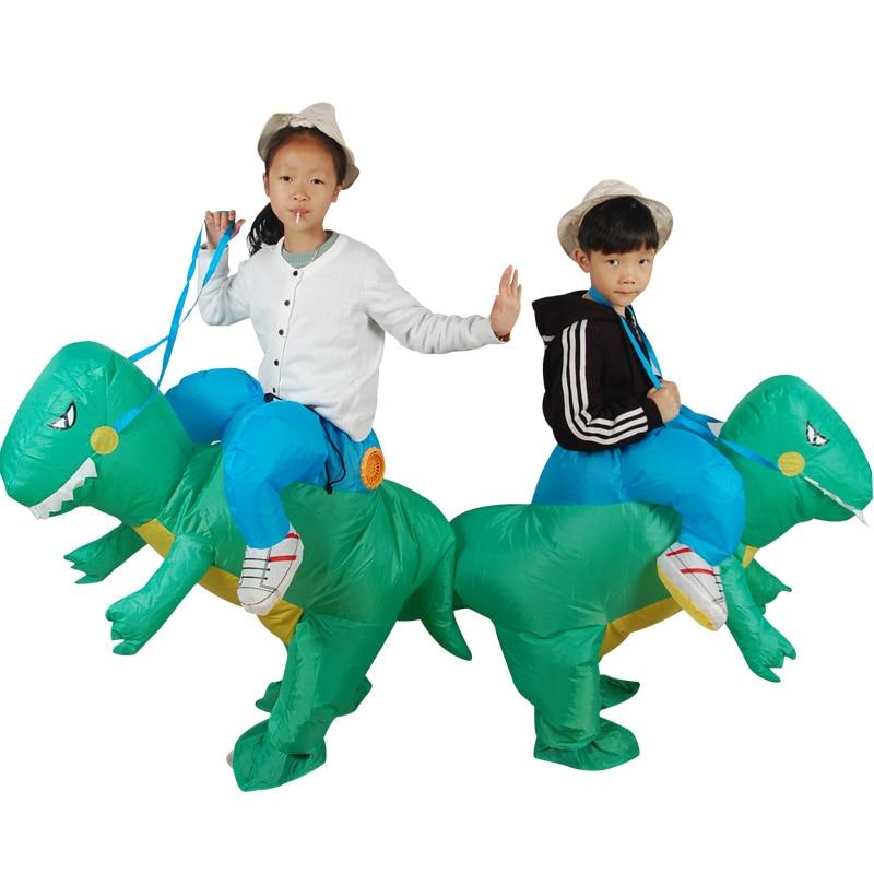 Opblaasbare Dinosaurus Kostuum Dinosaurus Jumpsuit Dinosaur Kleding Volwassen En Kinderen Halloween Kostuums Grappige Kostuums Dier Cosplay Zeer EfficiëNt Bij Het Behouden Van Warmte