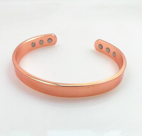 Genuine Vintage 100 Pure Magnetic Health Solid Copper Bangle Bracelet Arthritis Pain Relief Healing For Men