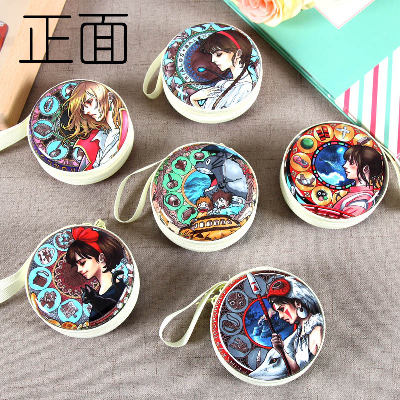 Women Cute Cartoon Hayao Miyazaki anime series Coin Purse kids Girls Wallet Earphone Box Bags Wedding Gift Christmas Gift