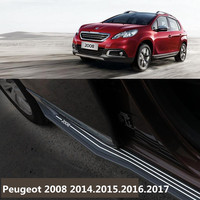 For Peugeot 2008 2014.2015.2016.2017 Car Running Boards Side Step Bar Pedals High Quality Brand New Original Design Nerf Bars