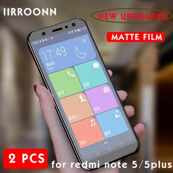 2 sztuk partia matowe szkło hartowane dla Xiaomi Redmi uwaga 5 5 plus Screen Protector dla Redmi 5 plus note5 matowe folia ochronna tanie i dobre opinie IIRROONN CN (pochodzenie) Przedni Film Redmi Uwaga 5 Pro Redmi Note 5 Matte Telefon komórkowy 6D Round Edge Front membrane