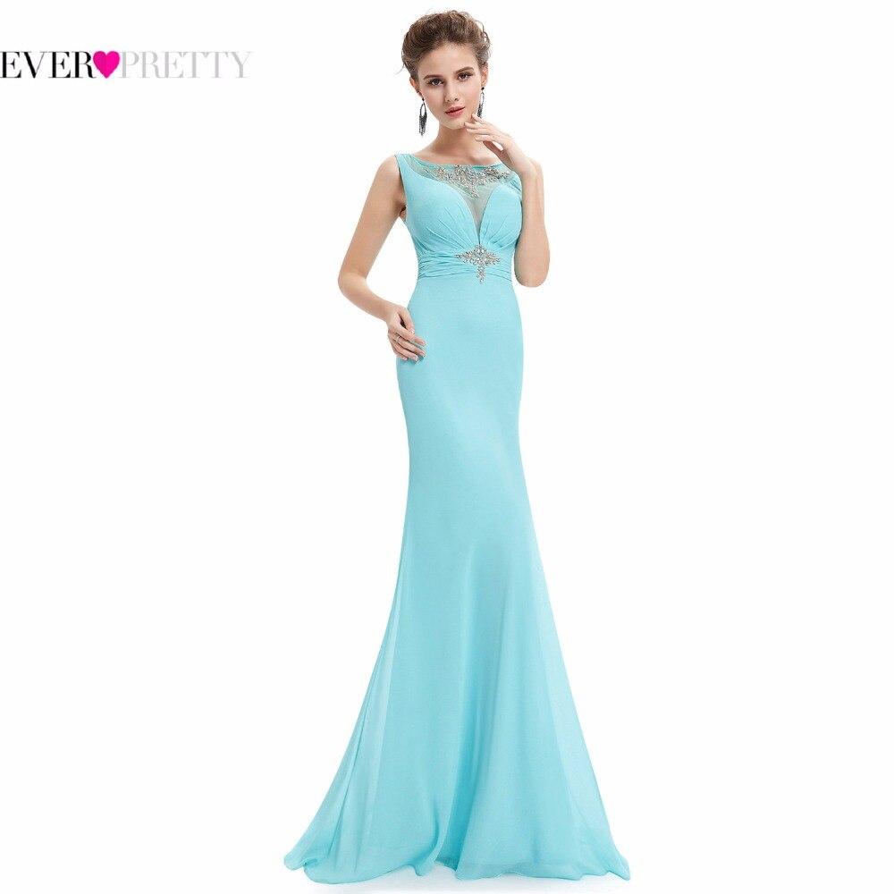 Ever Pretty Evening Dresses HE08732 Women S Elegant Baby Blue Sleeveless Sexy Back V Neck Long