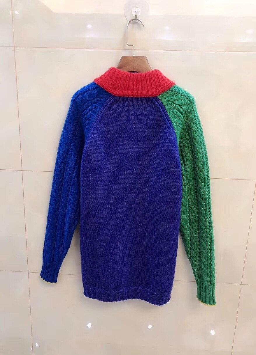 2017 Multiple Colorido Pulóver Mujeres Plaid Suéter Geométricas rqT1vfr
