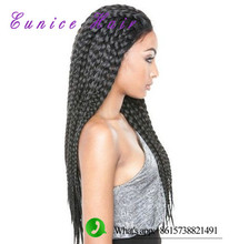 EUNICE HAIR  Lace Front Curly Synthetic box braids Wigs 30inch crochet braids black synthetic wigs for black women braided wig