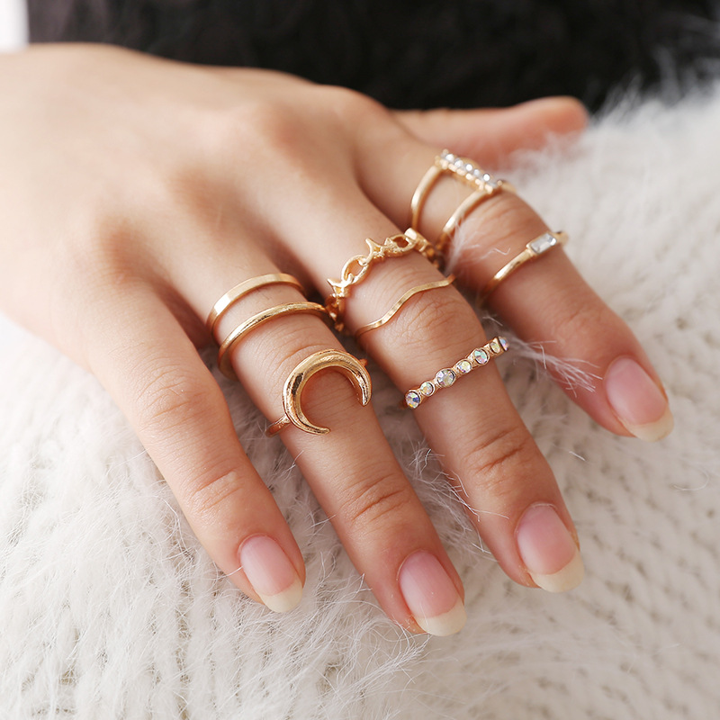 la qualité d'abord nouveaux styles code de promo ring set ladies rings for women anelli donna moon star heart ring bulgaria  Jewelry bagues-in Rings from Jewelry & Accessories on Aliexpress.com | ...