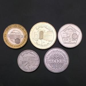Image 2 - Syrien 5 teile/los UNC original Münze Nicht umgewälzt