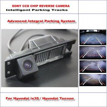 Intelligent Parking Tracks Car Rear Camera For Hyundai ix35 / Hyundai Tucson Backup Reverse / NTSC RCA AUX HD SONY 580 TV Lines