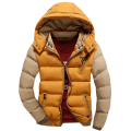 Hot Sale Brand Winter Jacket Men Parkas Bomber Jacket Casual Hooded Coats Patchwork Padded Jacket Male Outerwear