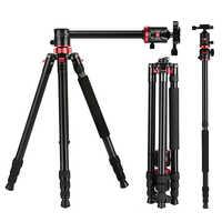ZOMEI caméra trépied Portable professionnel en Aluminium monopode 4 Sections trépieds avec tête à billes 360 degrés pour DV DSLR