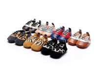Wholesale 50 Pairs Lot New Spring Arrived 7 Colors Genuine Leather Baby Moccasins Leopard Pattern Design