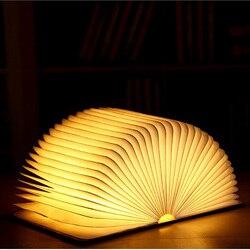 Kreatywne przebarwienia LED Book Funny Light USB Flip lampka do czytania lampka nocna z ładowaniem przez USB dekoracja składany stół dziwna lampa
