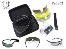 Hot Daisy C2 Sunglasses Men Tactical Military Goggles Army Cycling Outdoor Sports Use Gafas 4 lenses