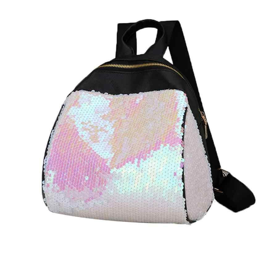 0e9a92dfa120 ... Mini Women Backpack School Bags For Teenage Girls Pu Backpacks Female  Travel Sequins 2018 New Mochila ...