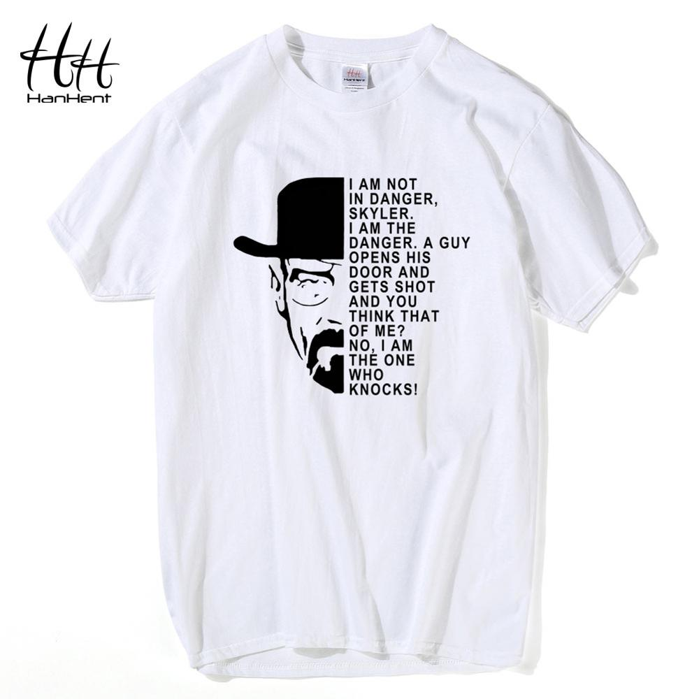 HanHent Heisenberg   T  -  Shirt   Men Walter white anime   shirt   Cotton Casual Funny   T     shirts   Swag Breaking bad Tops Los pollos hermanos