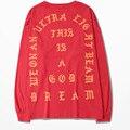 Yeezy Kanye West Eu Sinto Como Pablo M-XXL 3 ª Temporada Coconu t-camisa de mangas compridas T shirt Yeezy A Vida De Pablo