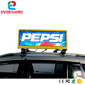 P5 led taxi techo publicidad al aire libre a todo color SMD led taxi top sign led tablero de exhibición electrónica