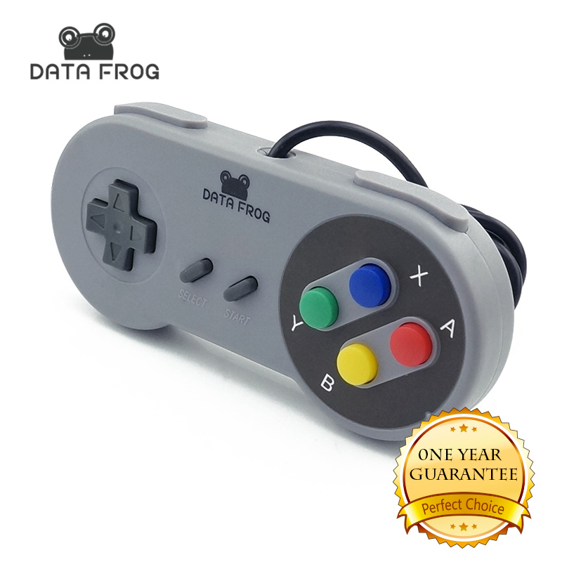 2017 High Quality Retro Super for Nintendo SNES USB Controller for PC for MAC Controllers Sealed Gamepad 50pcs new for snes controller extension cable for super nintendo for fami com consoles 6ft