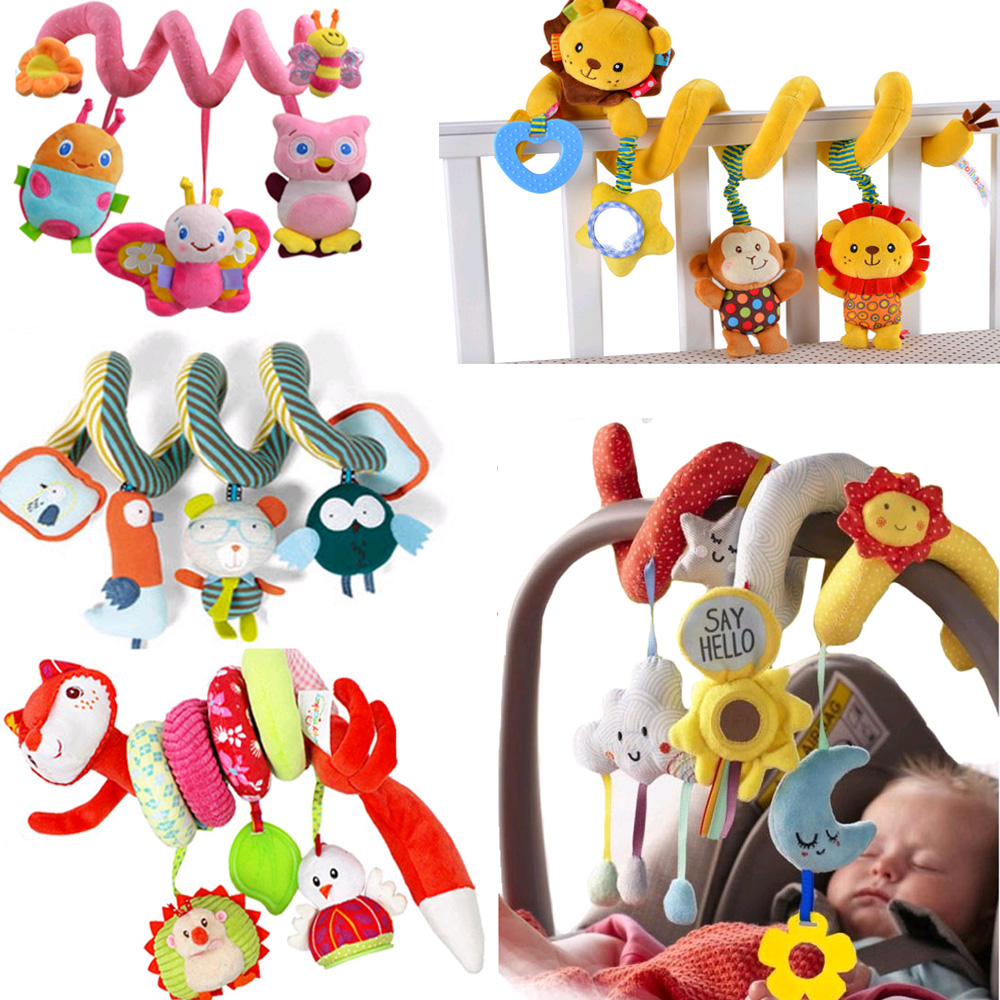 Newborn Baby Rattle Toys Crib Bed Spiral Baby Toys Car Seat Hanging Educational Bebe Bell Mobile Toy For Kids Gift