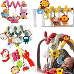 Brinquedos Do Bebê Chocalho Brinquedos Cama Berço Do Bebê recém-nascido Espiral Pendurado Assento de Carro Bebe Educacional Sino Brinquedo Móvel Para Caçoa o Presente