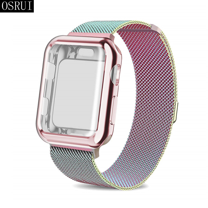 Sase Strap for Apple Watch 4 Band 44mm 40mm correa iwatch 42mm 38mm 3 2 milanese loop watch bracelet stainless steel accessoriesSase Strap for Apple Watch 4 Band 44mm 40mm correa iwatch 42mm 38mm 3 2 milanese loop watch bracelet stainless steel accessories
