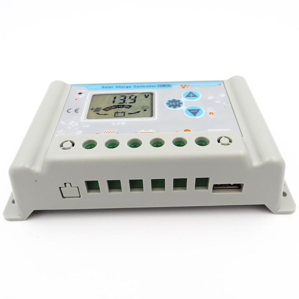 Contrôleur de Charge de panneau solaire | 3A, 10A, 20A, 30A, 6V, 12V, 24V, 48V, 60V, 3.7V, 12.8V, 25.6V, 11.1V, LI-ION, batterie LiFePO4