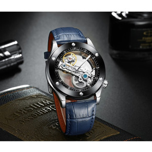 Image 4 - Tevise Automatic Watch Men Mechanical Watches Hollow Skeleton Self Winding Male Sport Wrist Watch Relogio Masculino 2019 New