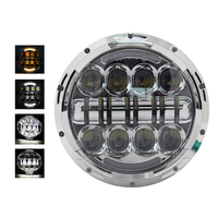 DOT 80w 7 Round Harley Headlight E9 Mark Harley Motorcycles Led Headlights Replacement 7 inch Motorcycle H4 Headlamp