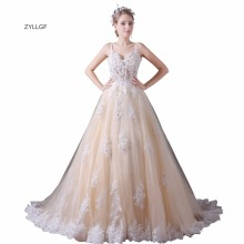 ZYLLGF Ball Gown Wedding Dresses Sexy See Through Gown
