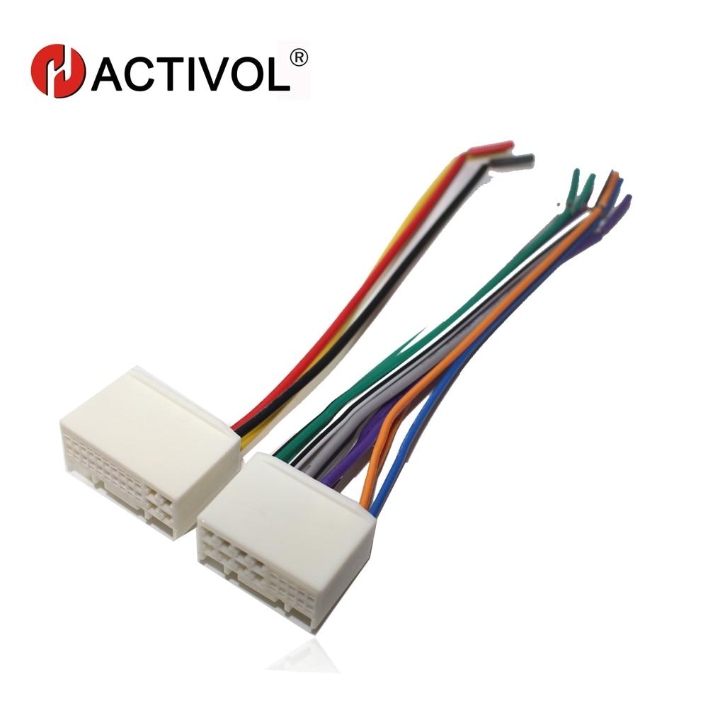 car radio stereo iso plug power adapter wiring harness for kia k2 k3 k5 sportage r [ 1000 x 1000 Pixel ]