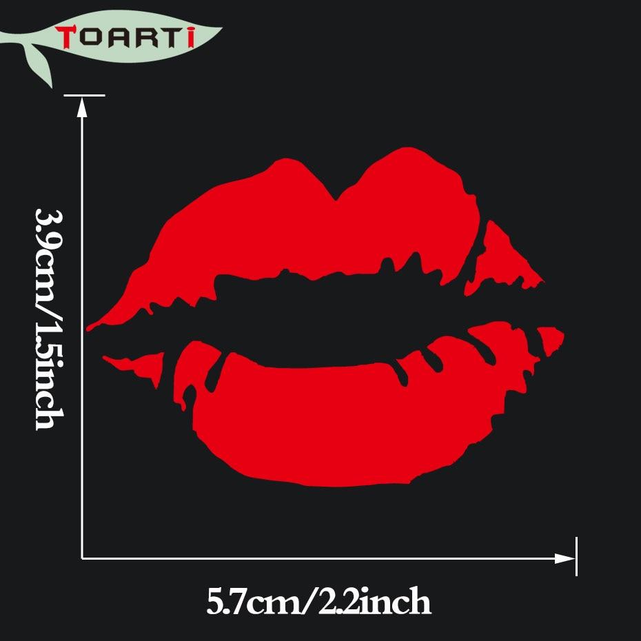 5.7 * 3.9CM Dodaqlar Kiss Dodaq Boyası Vinil Dekal Avtomobil - Avtomobilin xarici aksesuarları - Fotoqrafiya 3