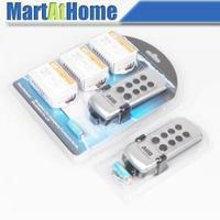 Free Shipping ARD 6 way Wireless Remote Control Switch Remote Control Llight Switch 220V AC (2 remotes) #BK108 @CF