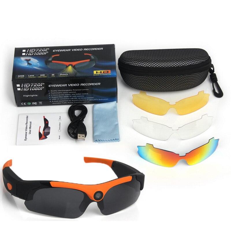 1080P HD Cycling Polarized Sunglasses Driver Eyewear 120 Degrees DVR Video Camera Glasses Eyewear Replace Polarized Lens