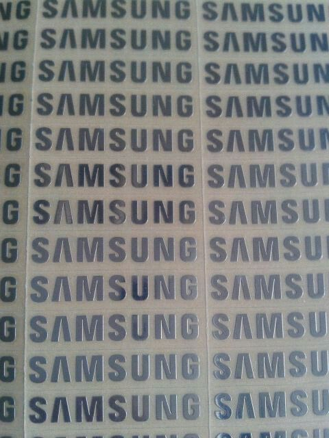 6pcs lot free shipping silver stickers for samsung logo mark of metal stickers 3mm 2 2