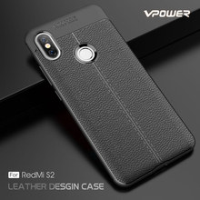 цены Case For Xiaomi Redmi S2 Funda Vpower Lichee Pattern Shock Proof Soft TPU Phone Cases Capa For Xiaomi Redmi S2 S 2 Back Covers