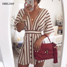 2019 Sexy Women V-Neck Striped dress New Fashion Summer Beach Casual Loose dresses vestidos Plus Size