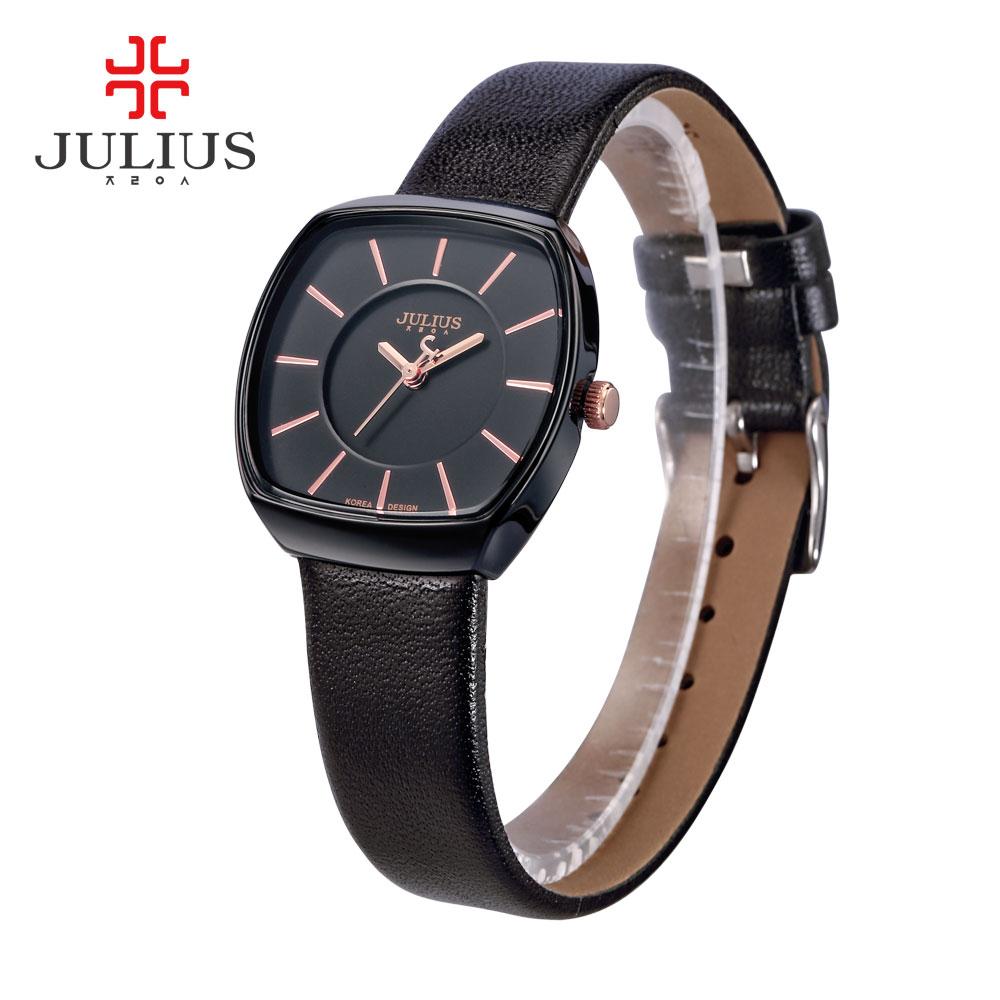 Julius Lady Women's Watch Japan Quartz Hours Fine Fashion Dress Bracelet Simple Leather Girl Birthday Lovers Gift Original Box цена и фото