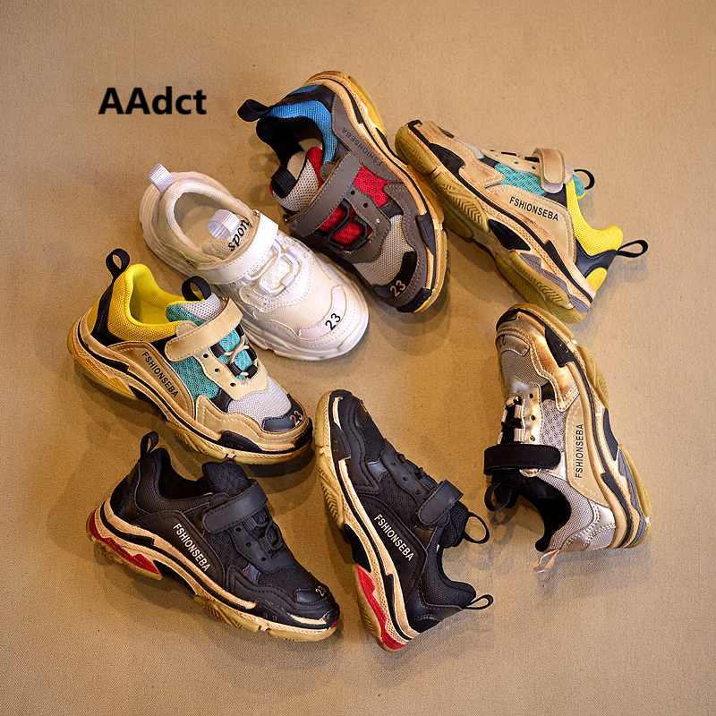 AAdct 2018 Fashion children shoes student running sports boys sneakers Brand High-quality kids shoes for girls Mesh Breathing 2017uovo fall children shoes boys and girls sneakers 3 hooks and kids shoes high quality sports running shoes for kids