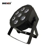 Schnelles Verschiffen LED Par Tri-7x9W RGB Flach Slimpar 7 kanäle LED Waschen Licht RGB Farbe Mischen 7x9W