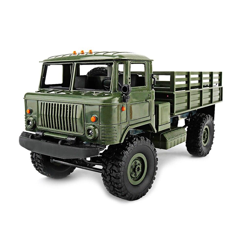 Neue WPL B-24 4WD Militärische RC Lkw 1:16 2,4G DIY Mini Off-road RC Militär-lkw Vier-rad Stick 10 km/std Maximale Geschwindigkeit