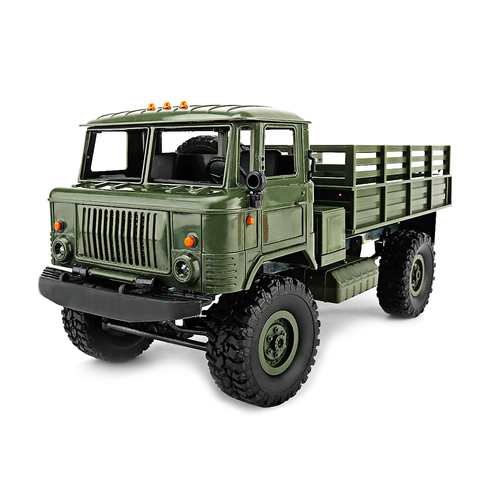 New WPL B-24 4WD Military RC Truck 1:16 2.4G DIY Mini Off-road RC Military Truck Four-wheel Drive 10km/h Maximum Speed цена