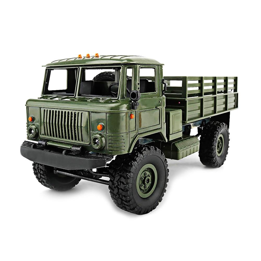 New WPL B-24 4WD Military RC Truck 1:16 2.4G DIY Mini Off-road RC Military Truck Four-wheel Drive 10km/h Maximum Speed